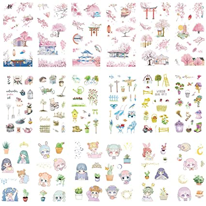 Amazon.com: Kawaii Stationery Sticker Set (Assorted 18 ...