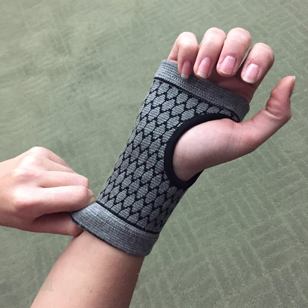 Carpal Tunnel Wrist Support - Bamboo Charcoal Technology - Self-Warming Carpal Support - Small