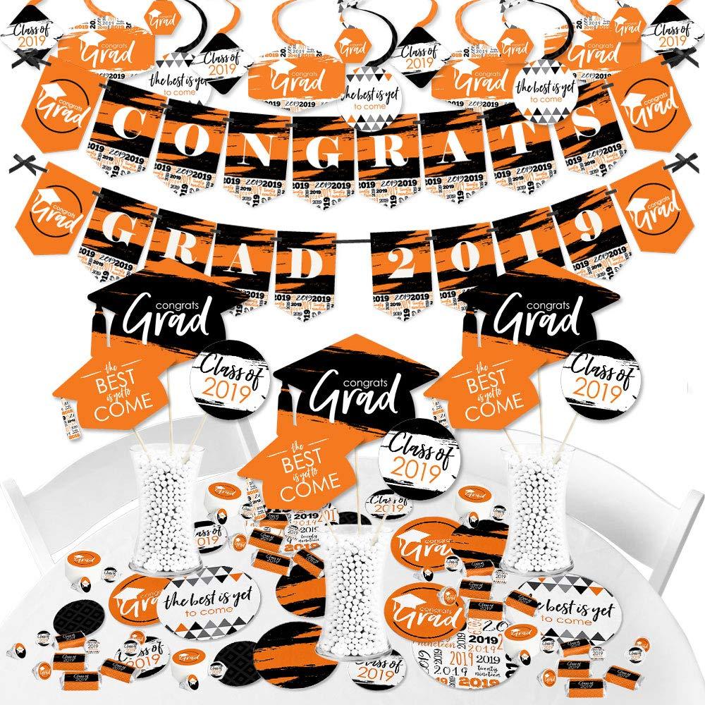 Orange Grad - Best is Yet to Come - 2019 Orange Graduation Party Supplies Party Decoration Kit - Fundle Bundle