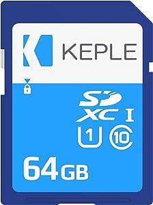 64GB SD Card Class 10 High Speed Memory Card Compatible with Nikon D3100, D3300, D3400, D5100, D5300, D5500, D5600, D7100, D7200, D7500, D610, D750, D810, D850, D810A Camera | UHS-1 U1 SDXC 64 GB