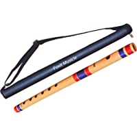 Foxit Flutes G Scale Natural Bamboo Flute/Bansuri,(17 inches, Medium)