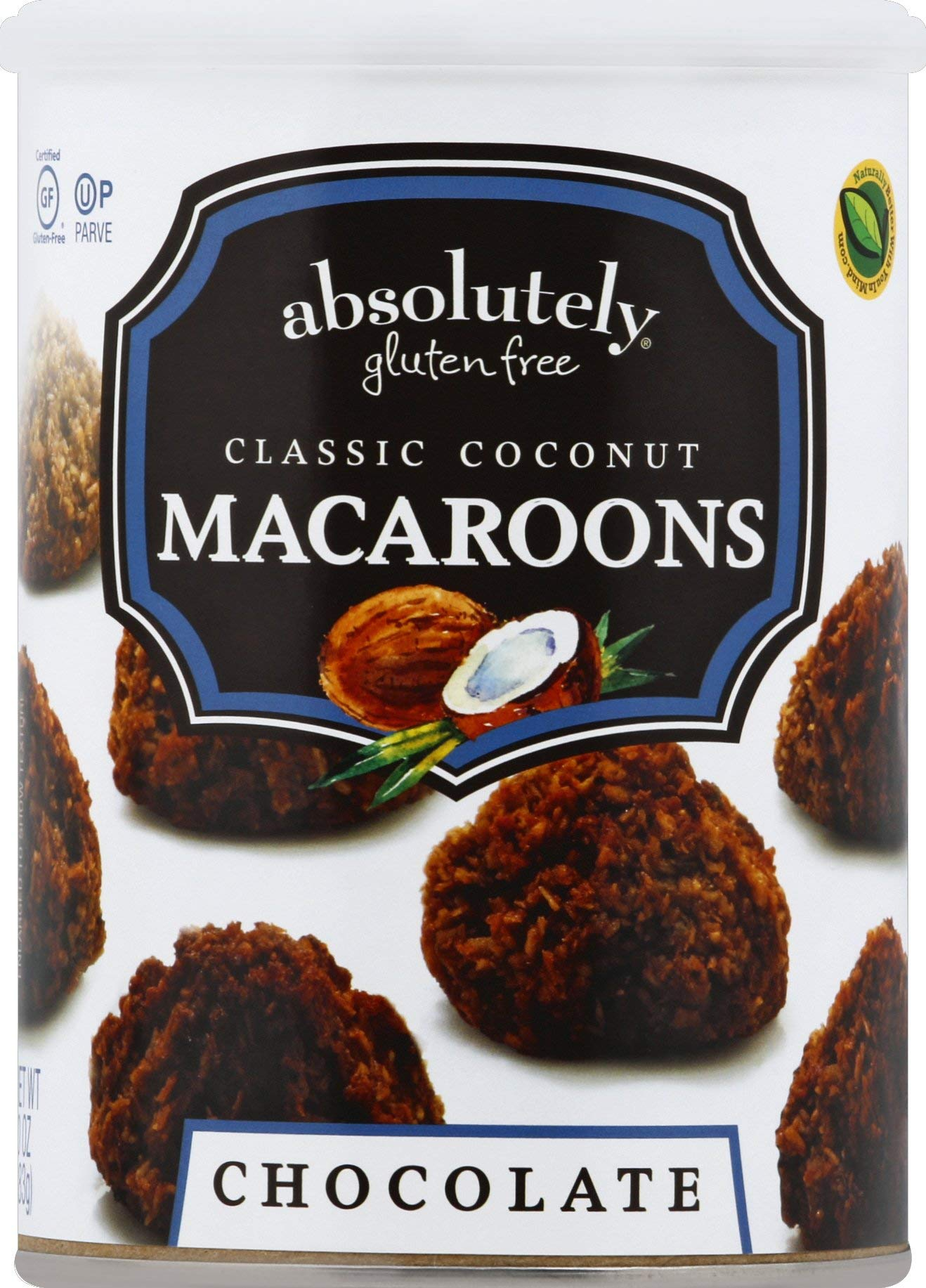 ABSOLUTELY GLUTEN FREE MACAROON COCNT W CHOC DRZ 10OZ by Absolutely Gluten Free