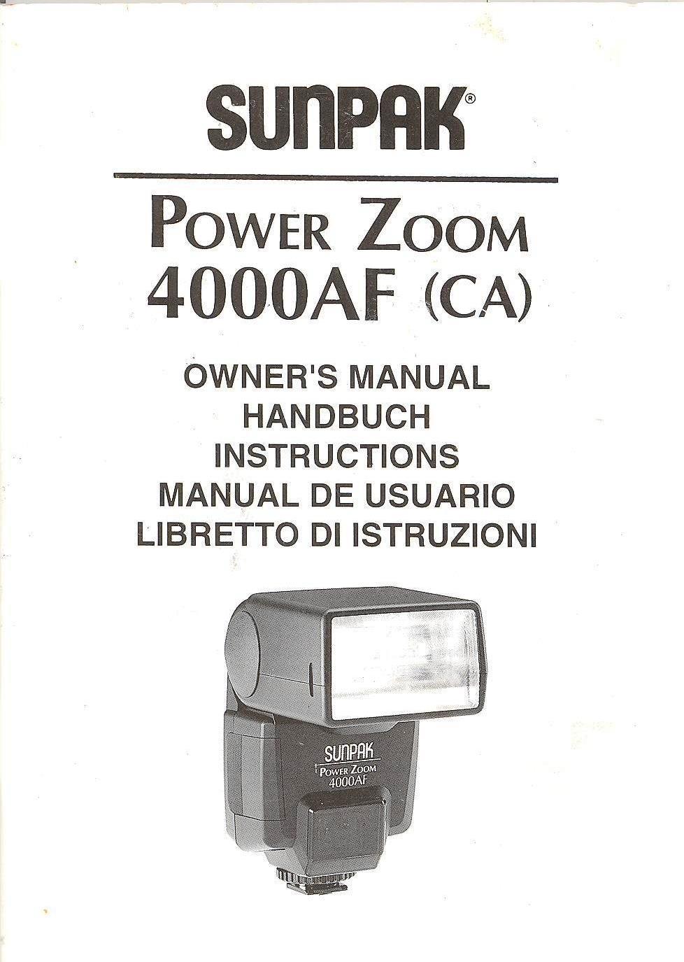 Sunpak power zoom 4000 af flash for nikon | #1791825945.