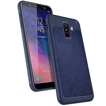 LK Funda Galaxy A6 Plus 2018 / J8 2018, Carcasa [Shock-Absorción] [Anti-Arañazos] Slim Silicona TPU Goma Suave Bumper Case Cover Ultra para Samsung ...