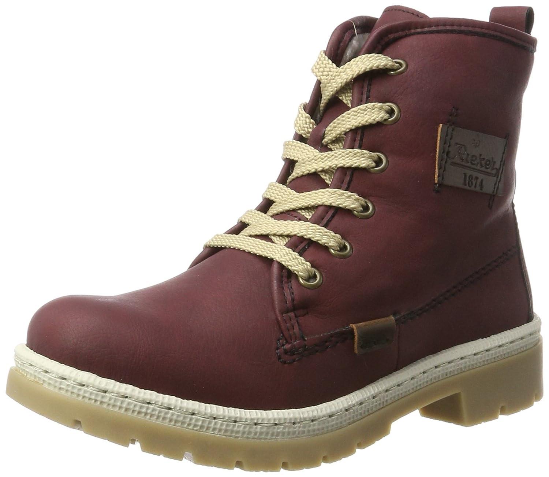 Rieker Damen Y9410 Stiefel Rot (Wine/Kastanie) 2018 Letztes Modell  Mode Schuhe Billig Online-Verkauf