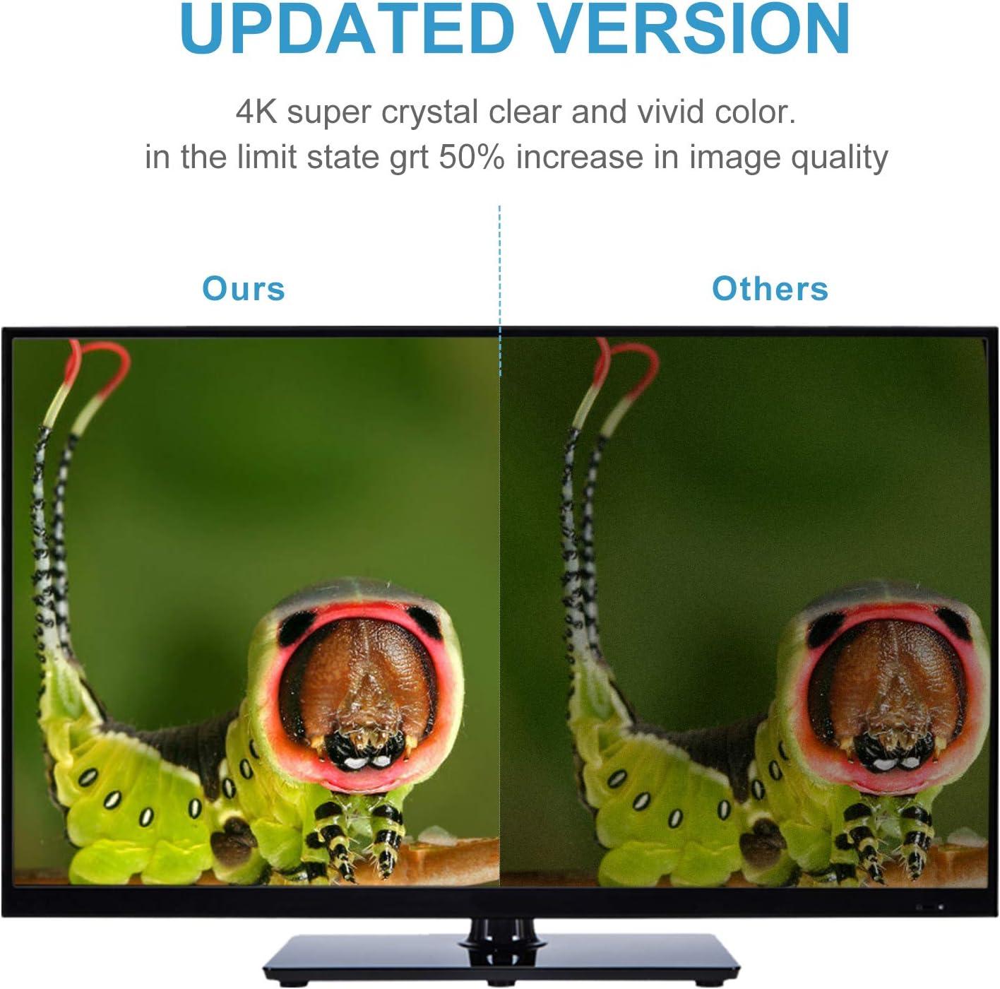 Antena de TV digital HD para interiores, antena HDTV amplificada para interiores, mejor antena de TV de largo alcance de 80 millas con amplificador de señal de apoyo 4K 1080P UHF VHF