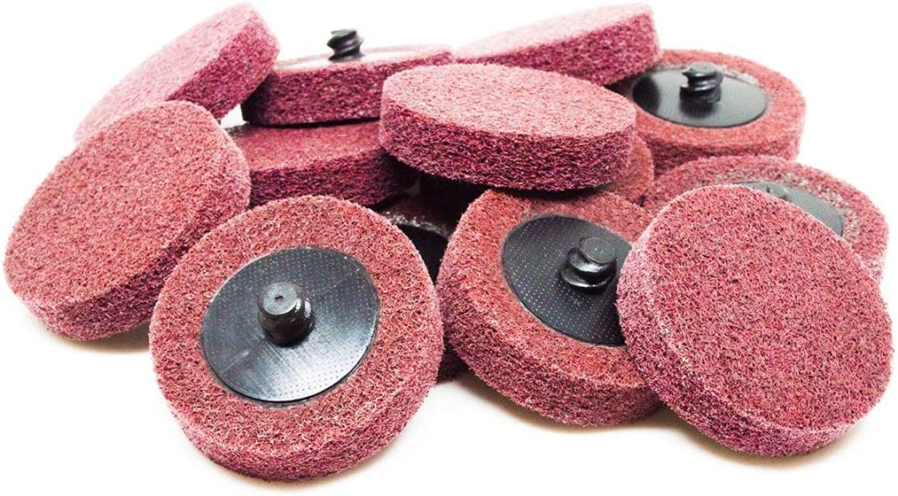 "Benchmark Abrasives 2"" Roloc Surface Preparation Discs - 10 Pack (Maroon - Fine) 71FGG7id9vL"