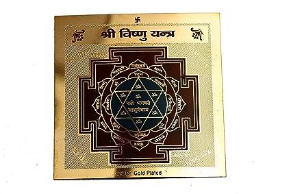 Amazon com: RUDRADIVINE Rudra Divine Gold Plated Shri Vishnu