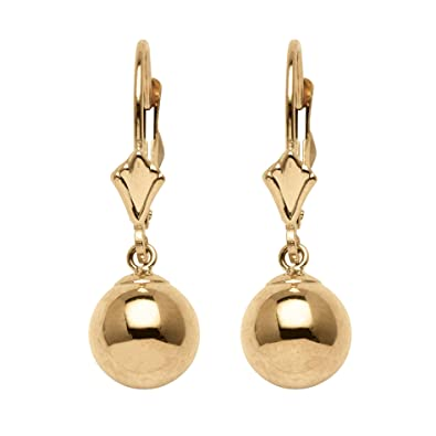 dfe0af347 Image Unavailable. Image not available for. Color: 14k Yellow Gold Ball  Drop Earrings