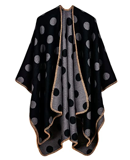 Amazoncom Lohascasa Womens Polka Dot Retro Soft Loose Knit Winter
