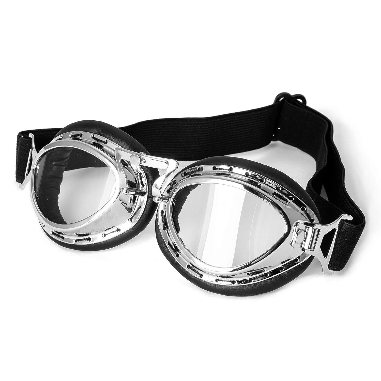 6f39ea1a39 Vêtements de protection Lunettes Moto Masque Protection Vintage Aviateur  Goggles Sport Argent A-PRO SRL 5051150040489