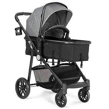 Amazon.com: BABY JOY - Cochecito de bebé, 2 en 1 ...