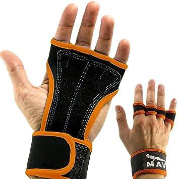 Guantes de entrenamiento de Mava Sports, con muñequeras, apoyo para levantamiento de pesas, gimnasio, entrenamiento con ...