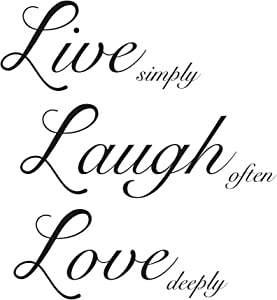 Wall Pops WPQ1744 Live Laugh Love Wall Quote