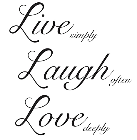 Live Laugh Love Quote Wall Sticker / Decal