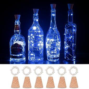 Luces de Botella de Corcho, Botellas de Vino Cobre de Alambre de luz de Cadena