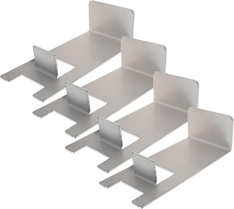 BBQ-Toro - Juego de elevadores para parrilla de acero inoxidable (4 unidades) para anillo de pizza de 57 cm de diámetro, ideal para ASIN: B01N0J2Q69, pero también para muchas otras barbacoas