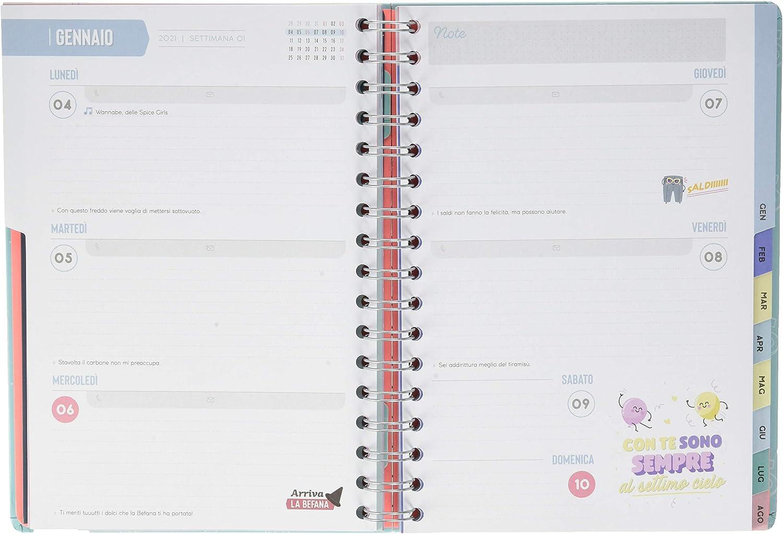 Agenda classica 2020-2021 Settimanale Progetti appuntamenti e idee