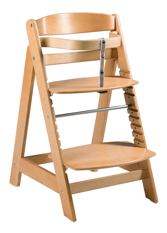roba Treppenhochstuhl Sit Up FUN Hochstuhl inkl mitwachsend vom Babyhochstuhl bis zum Jugendstuhl natur abnehmbarem Essbrett und B/ügel Holz-Hochstuhl
