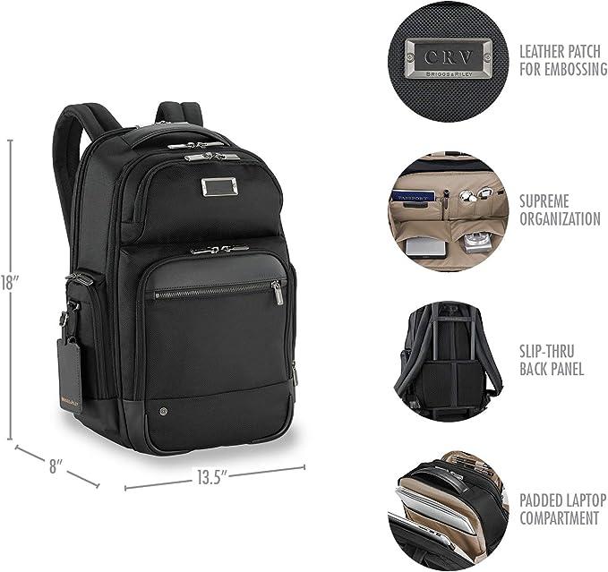 Briggs & Riley Work Medium Cargo Backpack Maletín, 46 cm, 21.4 Liters, Negro (Black): Amazon.es: Equipaje
