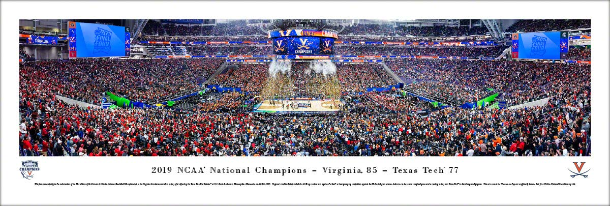 Virginia Cavaliers, 2019 NCAA Basketball Champions - Unframed Poster by Blakeway Panoramas