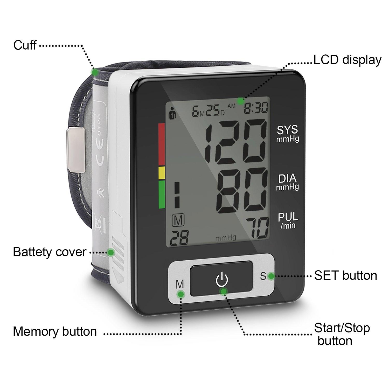 SEMATUR tensiometro digital para muñeca presion tension arterial FDA CE ROHS Certificado: Amazon.es: Bebé