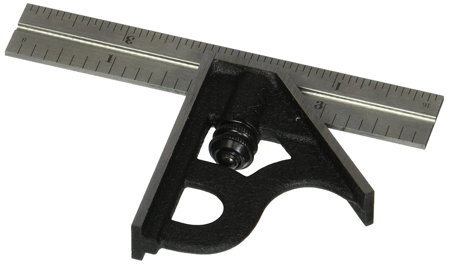 Starrett 11H 4 4R Combination Square with Cast Iron Head and Black Wrinkle Finish