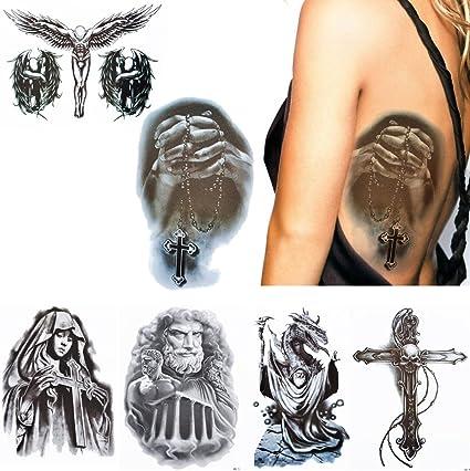 6 hojas Pray patrón temporal tatuaje cuerpo maquillaje brazo ...