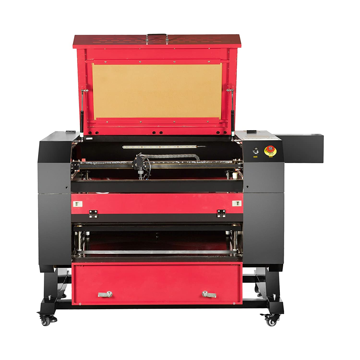 """Orion Motor Tech 80W CO2 Laser Engraving Cutting Machine, 110V Laser Cutter Engraver with DSP Control System and USB Interface (20"""" x 28"""" Working Area)"""
