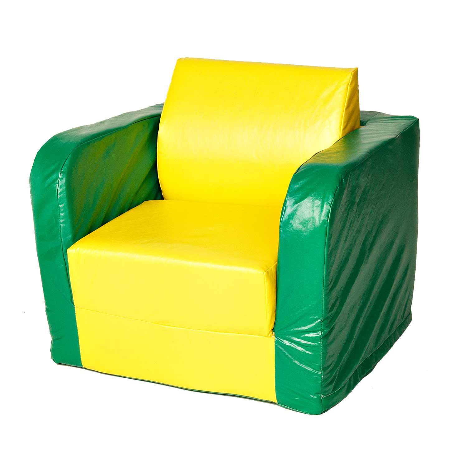 Foamnasium Juvenile Pullout Chair, Yellow/Green by Foamnasium