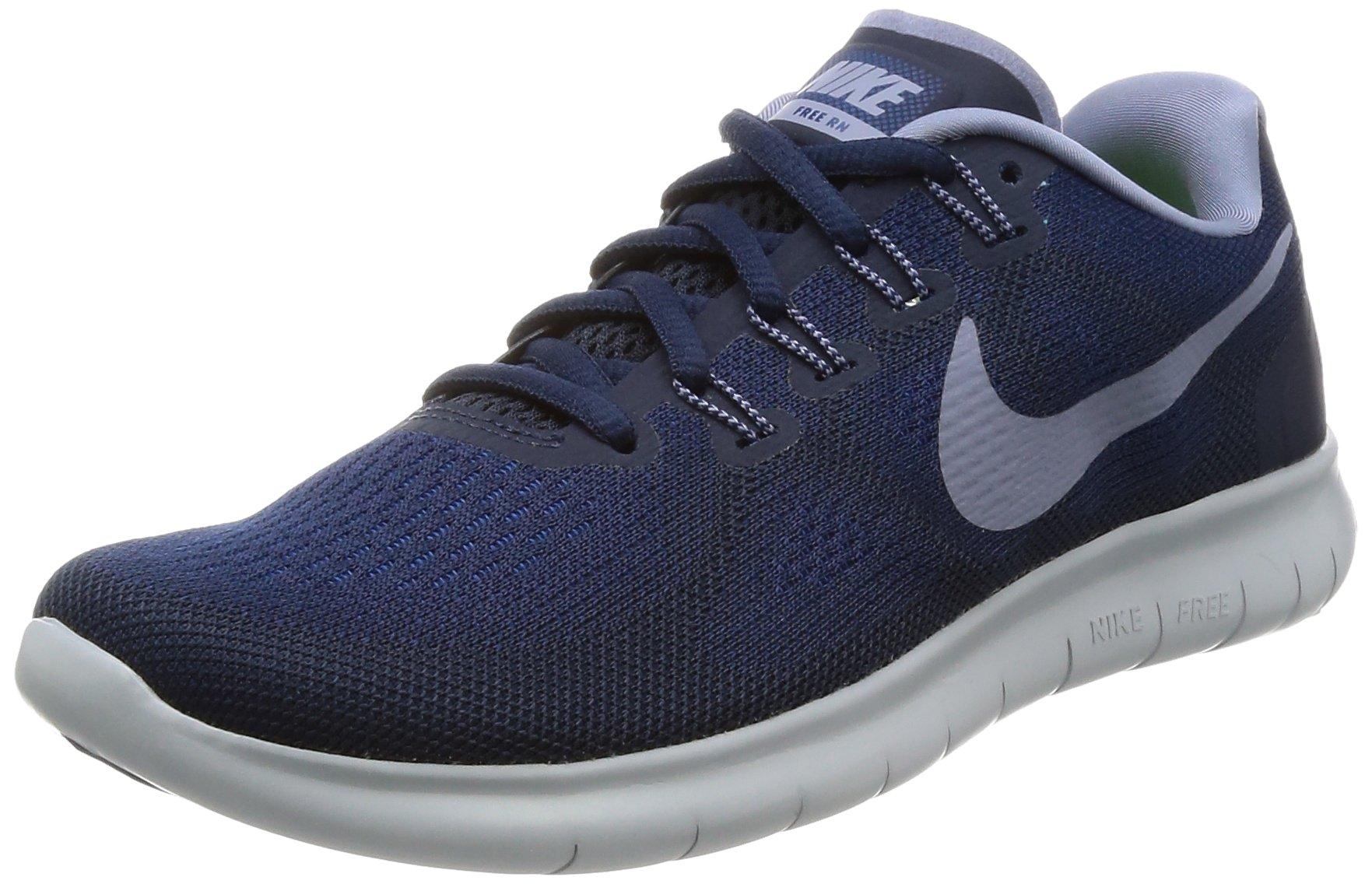 Nike Free RN 2017 Women's Running Shoes (6 M US, Binary Blue/Dark Sky Blue)