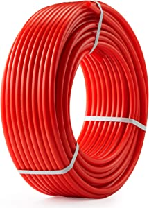CO-Z 1/2 inch PEX Tubing for Water HVAC, 300ft Coil of PEX Hose for Plumbing and Radiant Heat Tubing, Non Oxygen Barrier PEX Water Pipe Line for Home Improvement Camper or RV Sewer Hose, PEX-B, Red