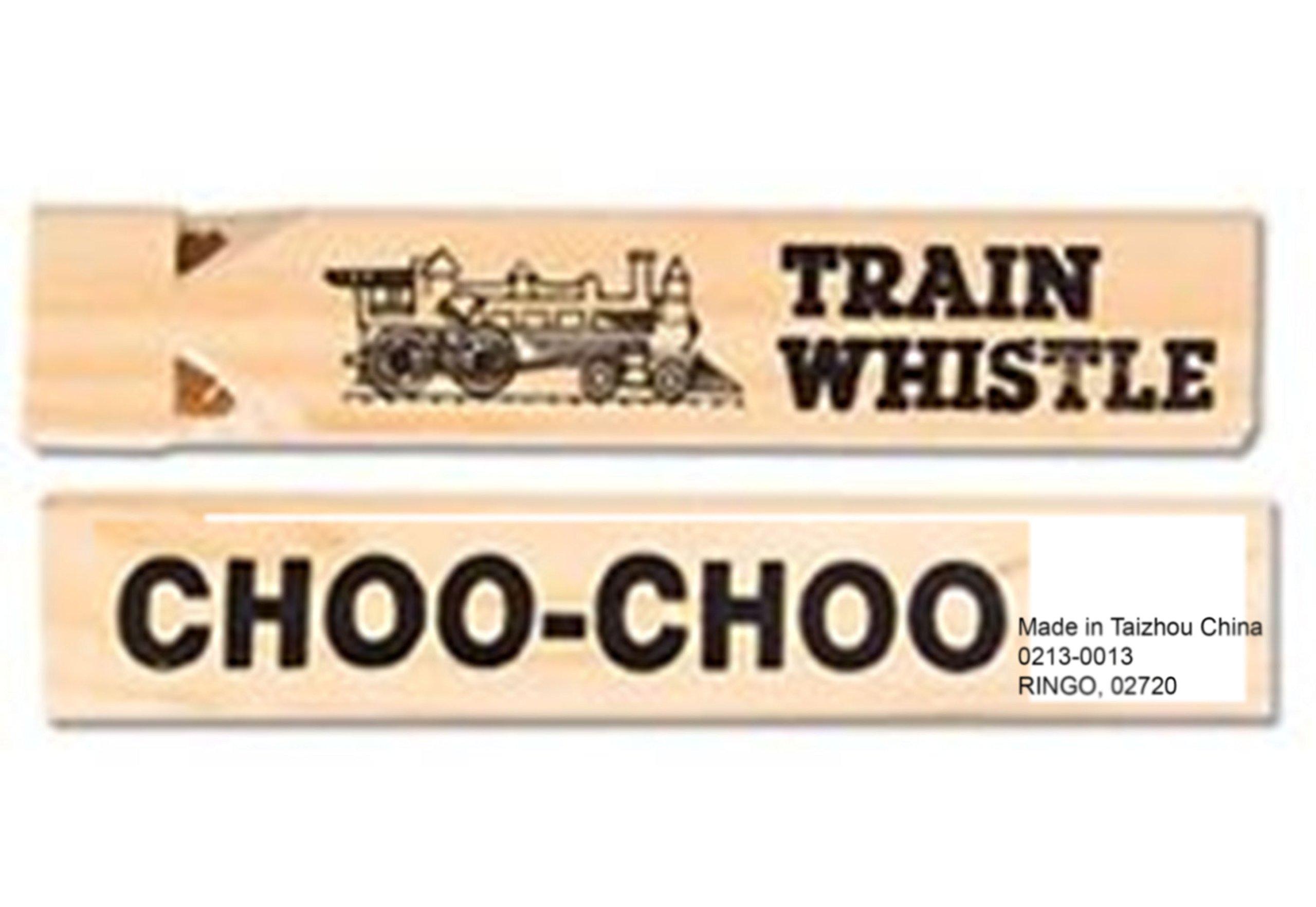 (LOT OF 12) Wooden 7'' Classic Train Whistle Choo Choo Railroad Locomotive RM2708
