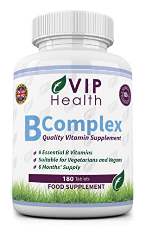 Vitamina B Compleja 180 Comprimidos (6 Meses de Suministro) por VIP Health - Todas