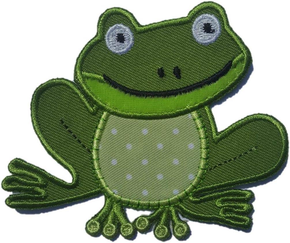 TrickyBoo 2 Aufb/ügler Frosch 9X8cm Rentier 6X9cm Set Aufn/äher Flicken Applikationen zum Ausbessern von Kinder Kleidung mit Design Z/ürich Schweiz f/ür Deutschland und /Österreich