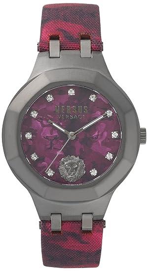 Versus by Versace Reloj Analogico para Mujer de Cuarzo con Correa en Cuero VSP350117