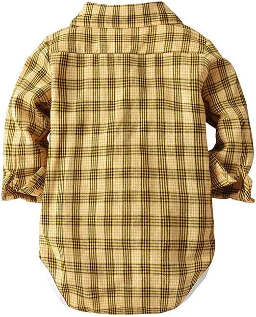 Mbby Tute Ragazzo Camicia con Tie 0-3Anni Ragazzi E Ragazze Manica Lunga Cotone Caldo Tuta Pantaloni con Bretelle 2 Pezzi
