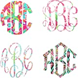 """3 Letter Monogram Decal for Your 30oz or 20oz Tumbler - Lilly Inspired Patterned Vinyl - 3"""" Custom Monogrammed Sticker (Decal Only)"""