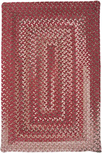 Colonial Mills Gloucester Red 2 x3 Braided Area Rug