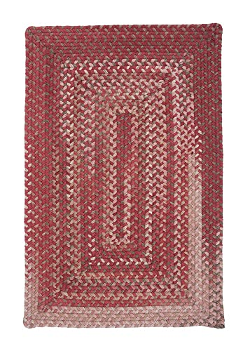 Colonial Mills Gloucester Red 12 x15 Braided Area Rug