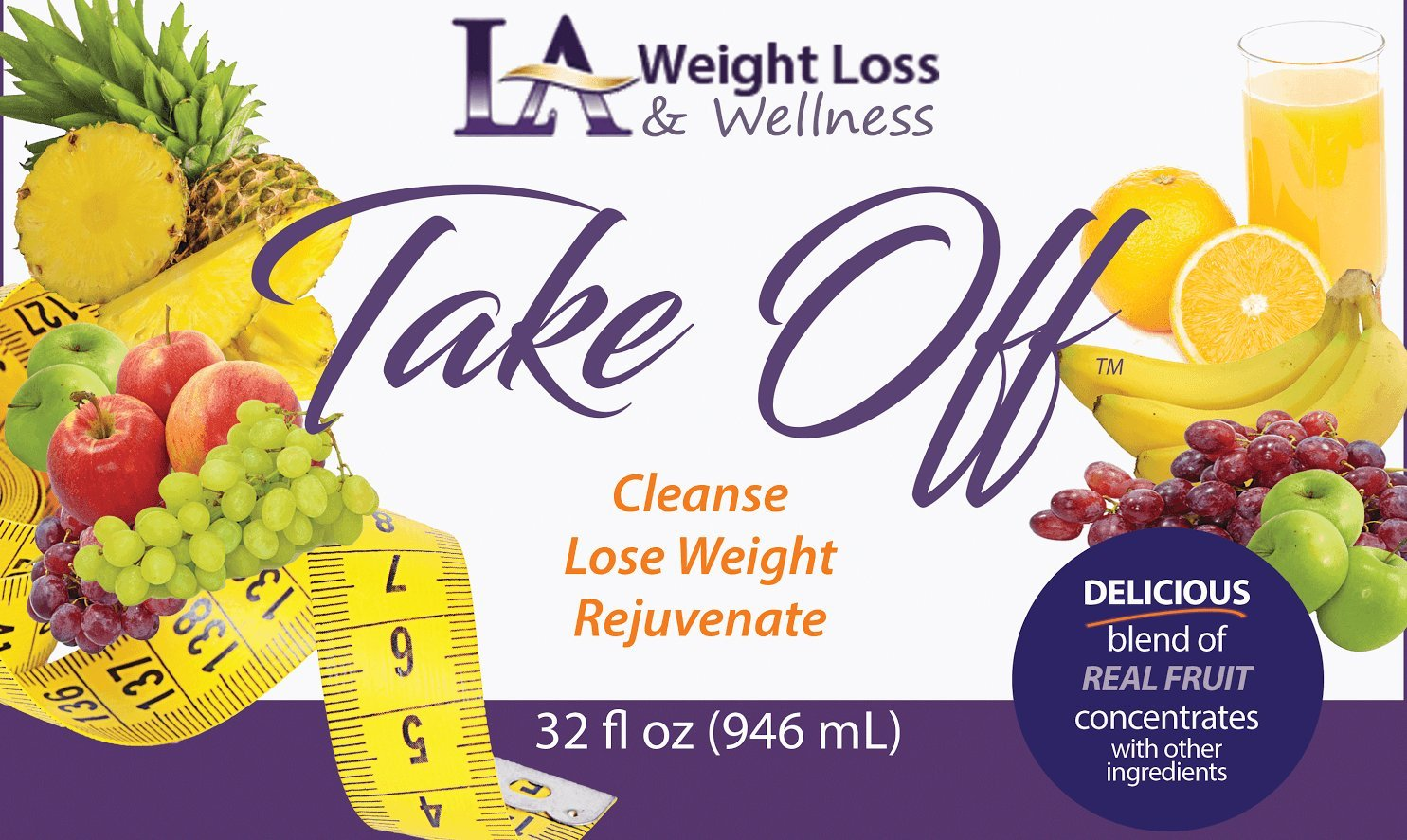 LA Weight Loss Takeoff Juice - Slim, Detox & Cleanse in Just 2 Days! by L A Weight Loss & Wellness