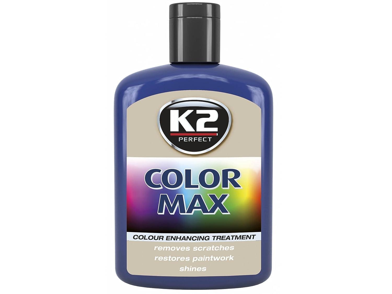 1 Stü ck Farbwachs K2 COLOR MAX 200ml Blau Autowachs Farbpolitur Wachspolitur Carnauba zum Ausbessern Lack Pflege Politur Neu