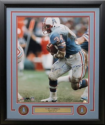 info for 38469 de5b6 Earl Campbell Signed Framed 16x20 Houston Oilers Photo ...