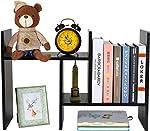PAG Adjustable Desktop Bookshelf Countertop Bookcase Wood Desk Storage Shelf Organizer