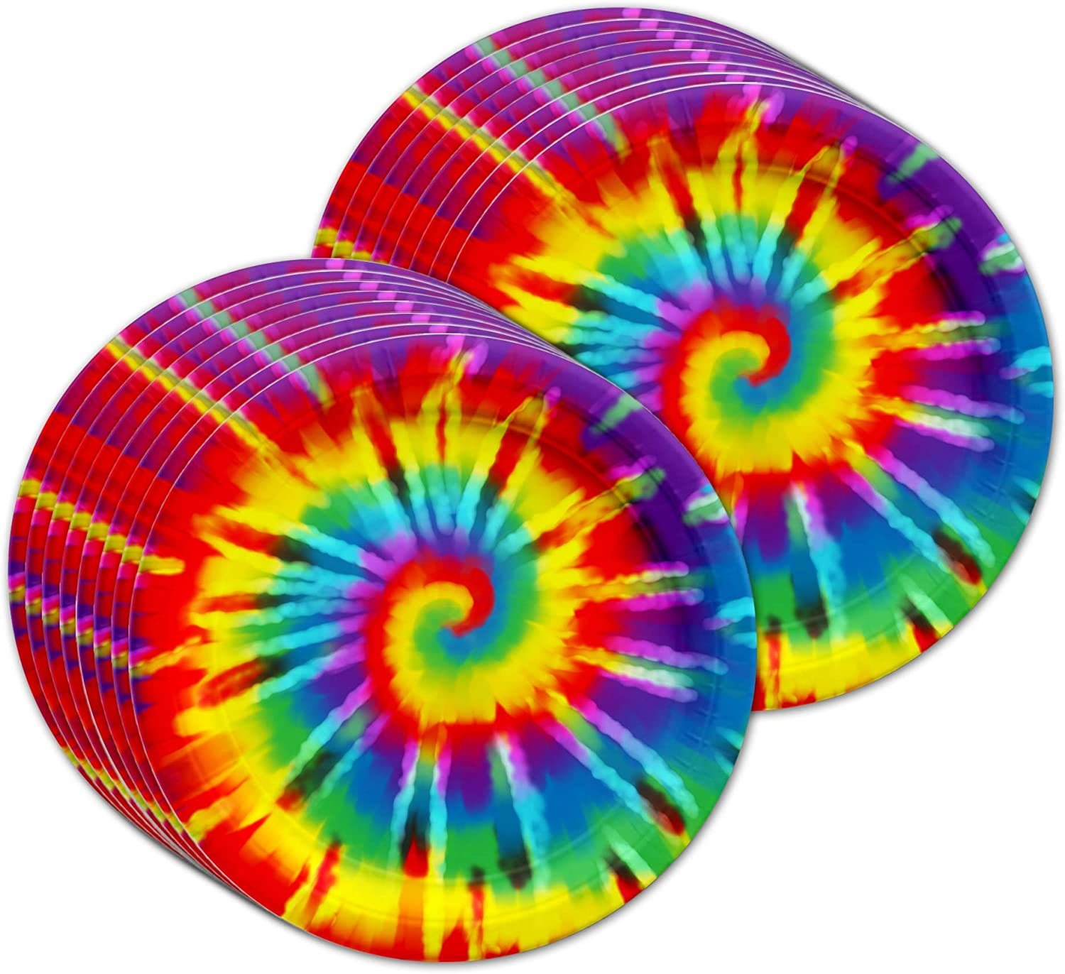 Tie Dye Birthday Party Supplies Set Plates Napkins Cups Tableware Kit for 16