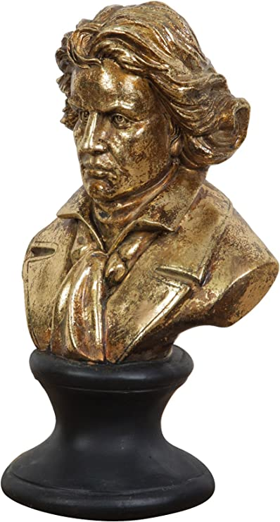 Mezzo busto in resina finitura oro anticato L18xPR12xH28 cm