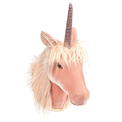 Juvale Unicorn Head Wall Mount - Wall Art Room Decor, Girls, Pink - 8.5 x 16.2 x 7 inches: Home & Kitchen