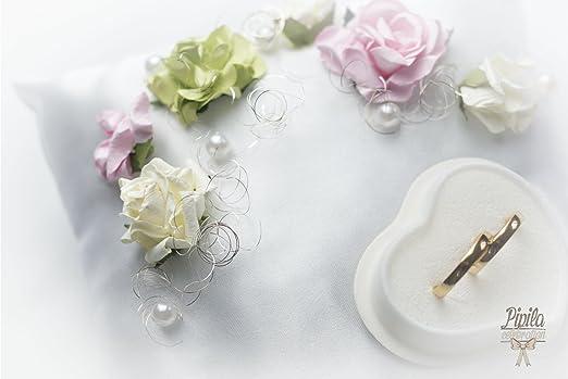 Anillos de boda almohada, cojín, anillo de compromiso ...