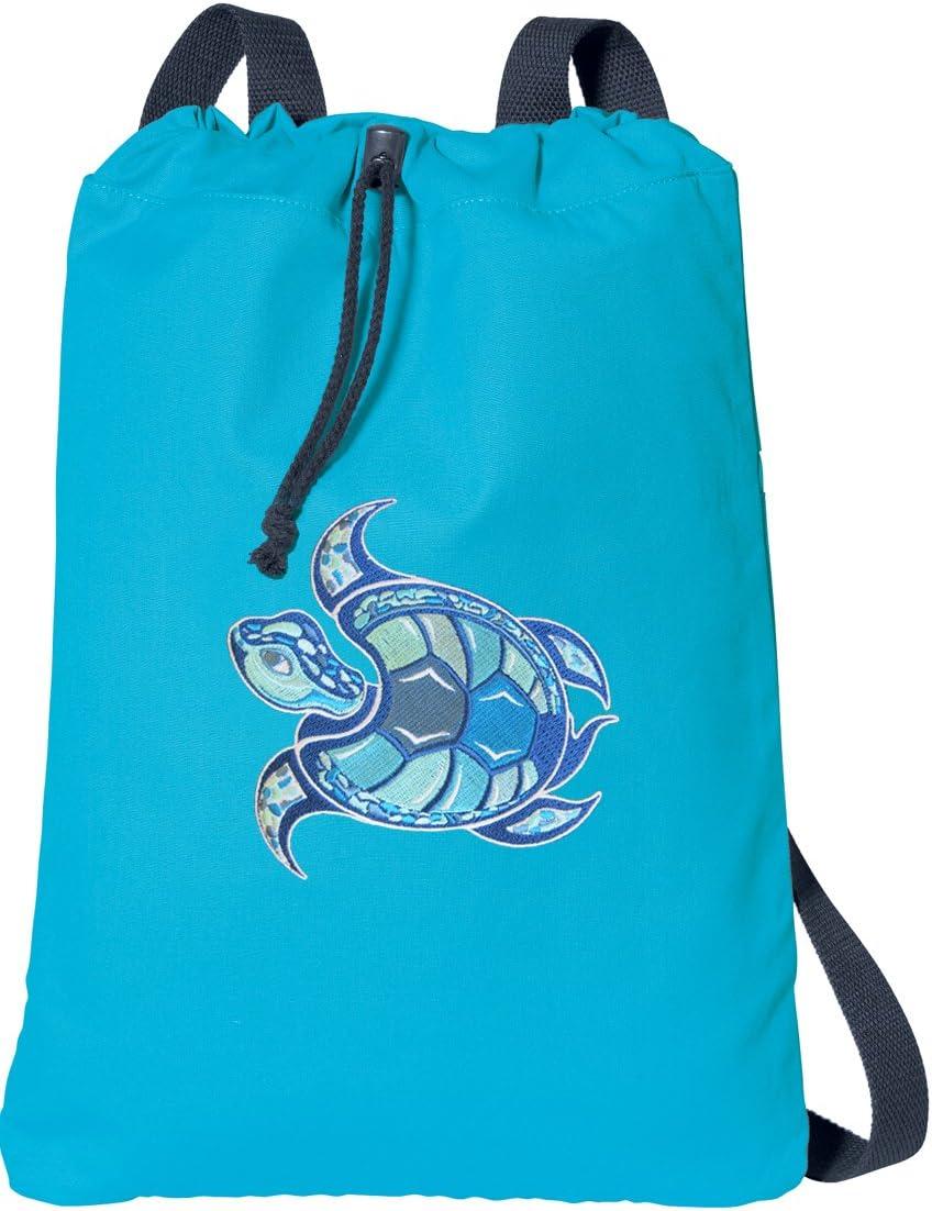 Sea Turtle Drawstring Backpack Rucksack Shoulder Bags Training Gym Sack For Man And Women