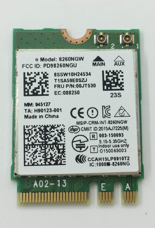 867Mbps Dual Band Wireless-AC 8260NGW WiFi Card for Lenovo Thinkpad E560 P50 T460 T460S T470 T470s T560, X1 Yoga X260 00JT480 00JT481 00JT489 00JT530 00JT532 01AJ815 0JT480 by aPower Plus